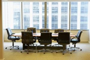 Empty small boardroom